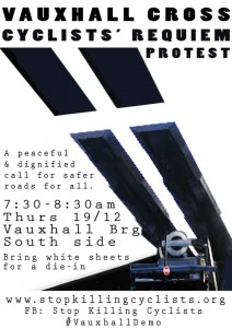Vauxhall Cros Cyclists' Requiem Protest - poster