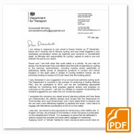 Robert Goodwill Minister for Cycling Letter (pdf)