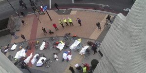 Vauxhall die-in protest