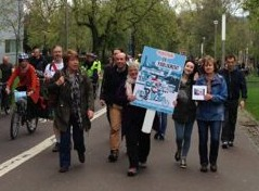 Lynne marches in Pedal on Parliament 2014.