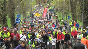 Thousands protest at Pedal on Parliament (photo by Chris Hill).