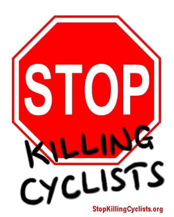 Stop Killing Cyclists - logo with website in red