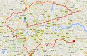 Cycle the London Boroughs Route