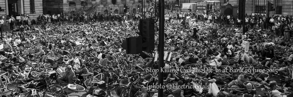 Die-In at Bank, The City of London on 29 June 2015 (photo by @ElectricPedals)