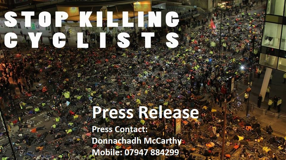 "Press Release – Stop Killing Cyclists to stage ""No More Coffins – Die-In"""